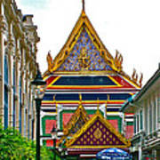Entryway To Middle Court Of Grand Palace Of Thailand In Bangkok Poster