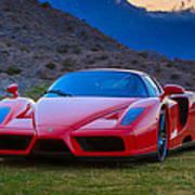 Enzo Ferrari Bold Poster