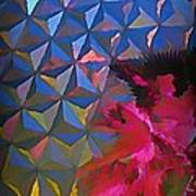 Epcot Centre Abstract Poster