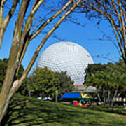 Epcot Globe Walt Disney World Poster
