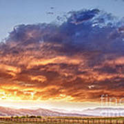 Epic Colorado Country Sunset Landscape Poster