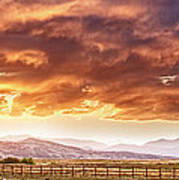 Epic Colorado Country Sunset Landscape Panorama Poster
