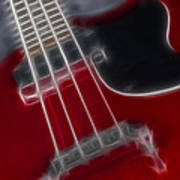 Epiphone Sg Bass-9241-fractal Poster