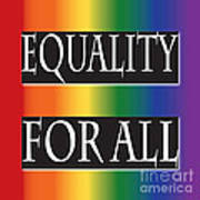 Equality Rainbow Poster