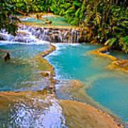 Erawan Waterfalls Thailand Poster