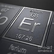 Erbium Chemical Element Poster