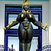 Ernst Fuchs Museum Nude Statue Poster