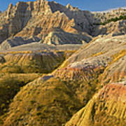 Eroded Buttes Badlands National Park Poster