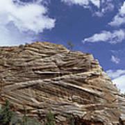 Eroded Sandstone Zion Np Utah Poster