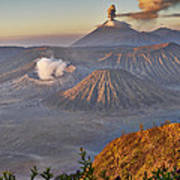 eruption at Gunung Bromo Poster