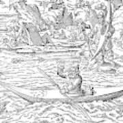 Eskimos Hunting, 1580 Poster