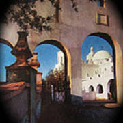 Esther Henderson Photo Back North Entrance  Of San Xavier Mission Tucson Arizona 1957-2013  Poster