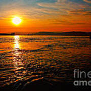 Estuary Sunset  Poster