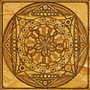 Eternity Mandala Leather Poster