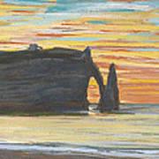 Etretat. Cliff Of Aval Poster