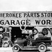 Evans Garage, 1936 Poster
