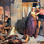 Eve Of Saint Agnes The Flight Of Madelein The Drunkenness Attending The Revelry Poster