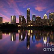 Evening Blue Austin Poster