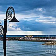 Evening Calm At Lyme Regis Poster