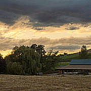Evening Farm Scene Near Ashland Poster