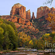 Evening Light On Cathedral Rock Poster