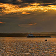 Evening Mariners Puget Sound Washington Poster