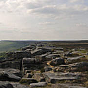 Evening On Stanage Edge Poster