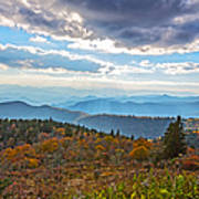 Evening On The Blue Ridge Parkway Poster