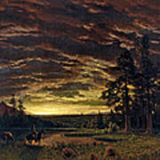Evening On The Prairie Poster
