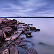 Evening On Tuttle Creek Lake In Kansas Poster