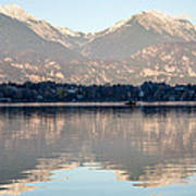 Evening Over Lake Bled Poster