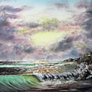 Evening Seashore Poster