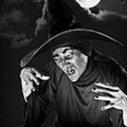 Evil Witch Under A Full Moon Poster
