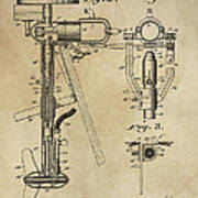 Evinrude Outboard Marine Engine Patent  1910 Poster