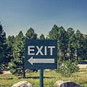 Exit Sign Poster