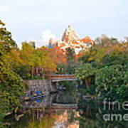 Expedition Everest At Sunset Poster
