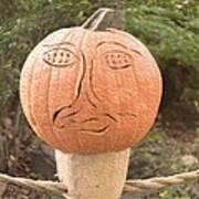Expressive Pumpkin Poster