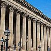 Exterior Of St Georges Hall Liverpool Uk Poster