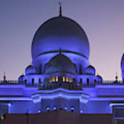 Exterior View Of Sheikh Zayed Grand Poster