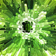 Extrusion Abstract Lime Green Poster
