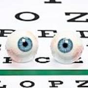 Eyeballs On Chart Poster