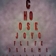 Eyechart Inspiring Typography Art Poster