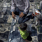 Eyes Down From The 103rd Floor Little Dude With No Fear Poster