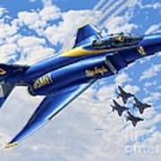 F-4 Phantoms In Blue Poster
