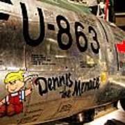 F-86d Sabre Dennis The Menace Poster