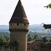 Fabry Tower - Cluny - Burgundy Poster