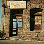 Facade American Pool Hall Coca-cola Sign Ghost Town Jerome Arizona Poster