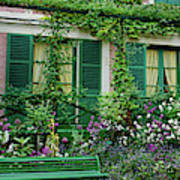 Facade Of Claude Monets House, Giverny Poster