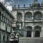 Facade Of The Silverware In Santiago De Compostela Poster