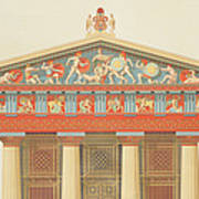 Facade Of The Temple Of Jupiter Poster
